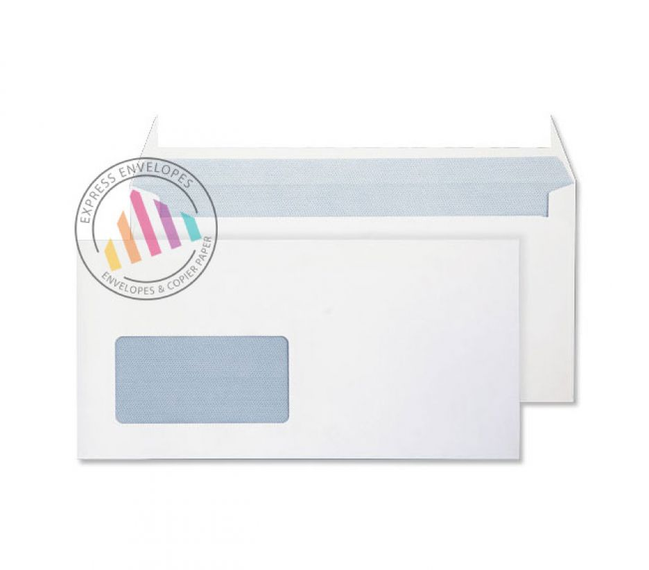 DL - Ultra White Commercial Envelopes - 120gsm - Window - Peel & Seal