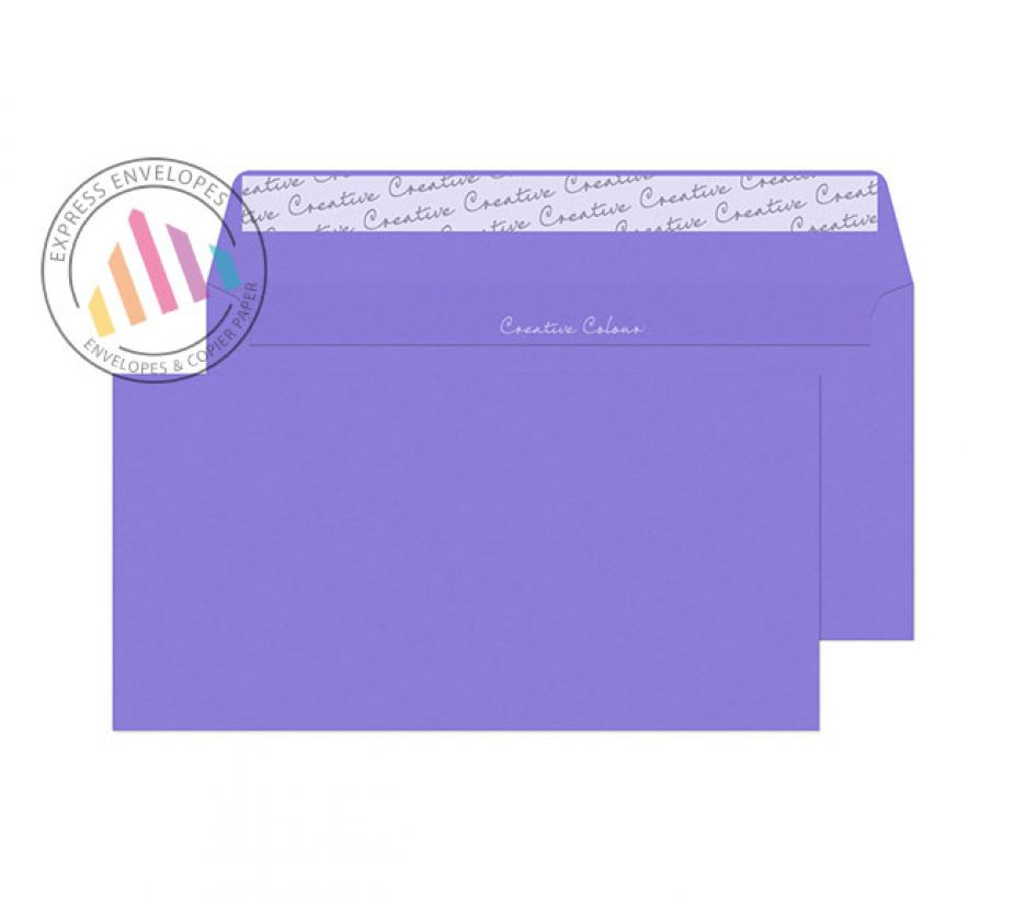 DL+ - Summer Violet Envelopes - 120gsm - Non Window - Peel and Seal