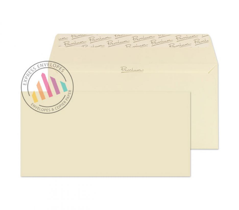 DL - Cream Wove Envelopes - 120gsm - Non Window - Peel & Seal