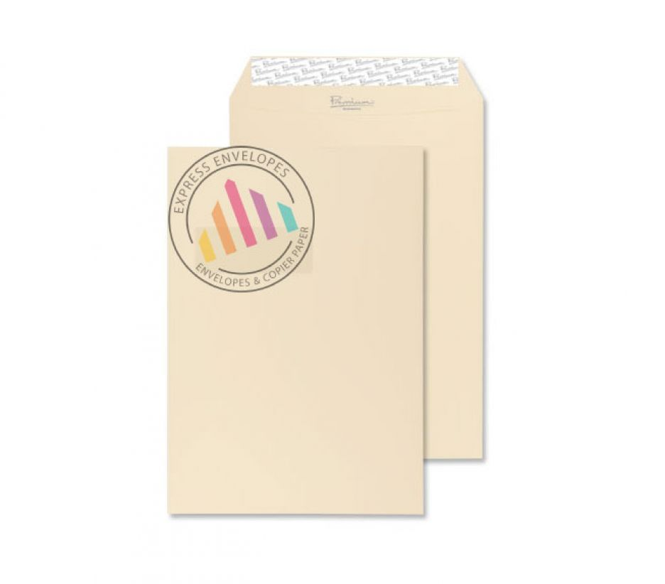 C4 - Cream Wove Envelopes - 120gsm - Window - Peel & Seal
