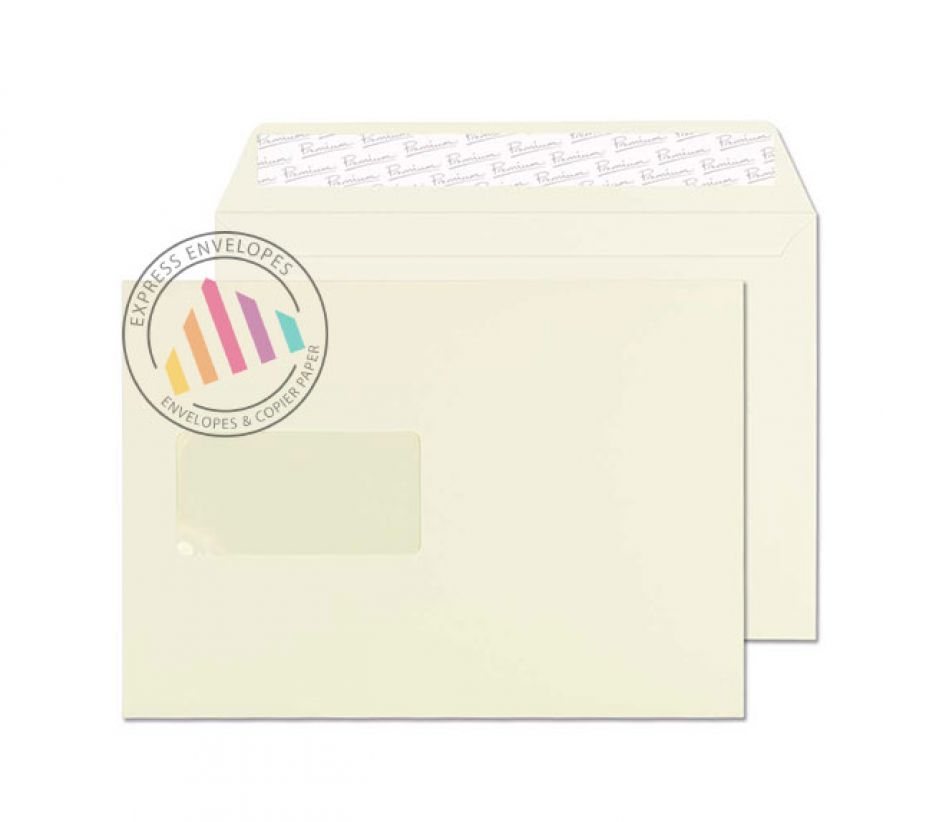 C5 - Oyster Wove Envelopes - 120gsm - Window - Peel & Seal