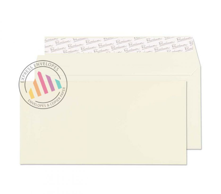 DL - Oyster Wove Premium Envelopes - 120gsm - Non Window - Peel & Seal