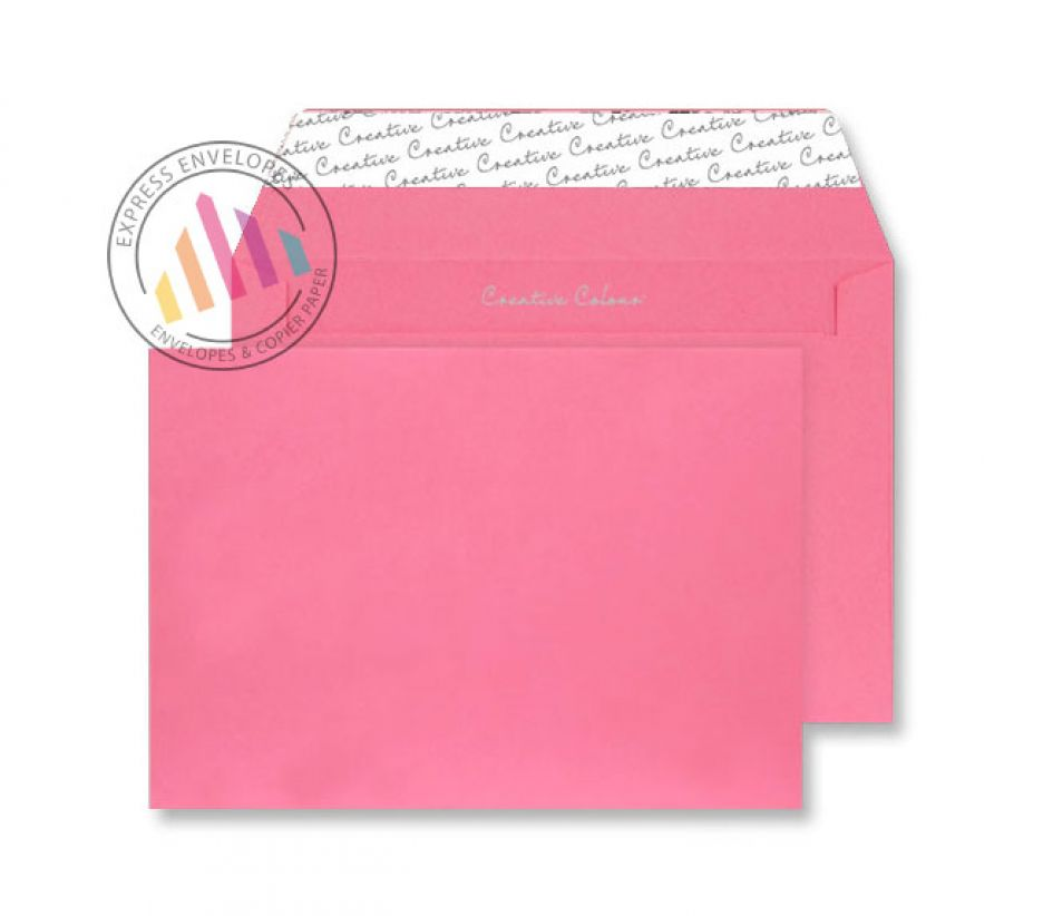 C5 - Flamingo Pink Envelopes - 120gsm - Non Window - Peel and Seal