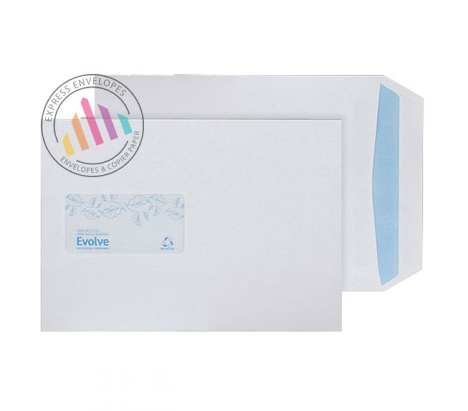 Recycled C5 - White Commercial Envelopes - 100gsm - Window - Self Seal
