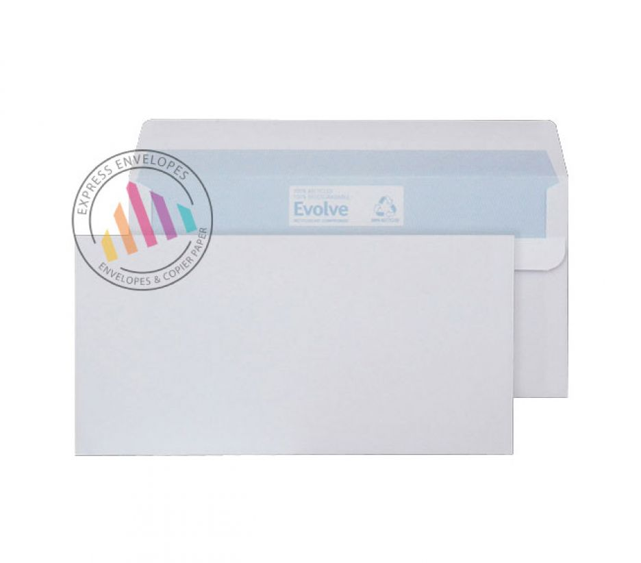 Recycled DL - White Commercial Envelopes - 90gsm - Non Window - Self Seal