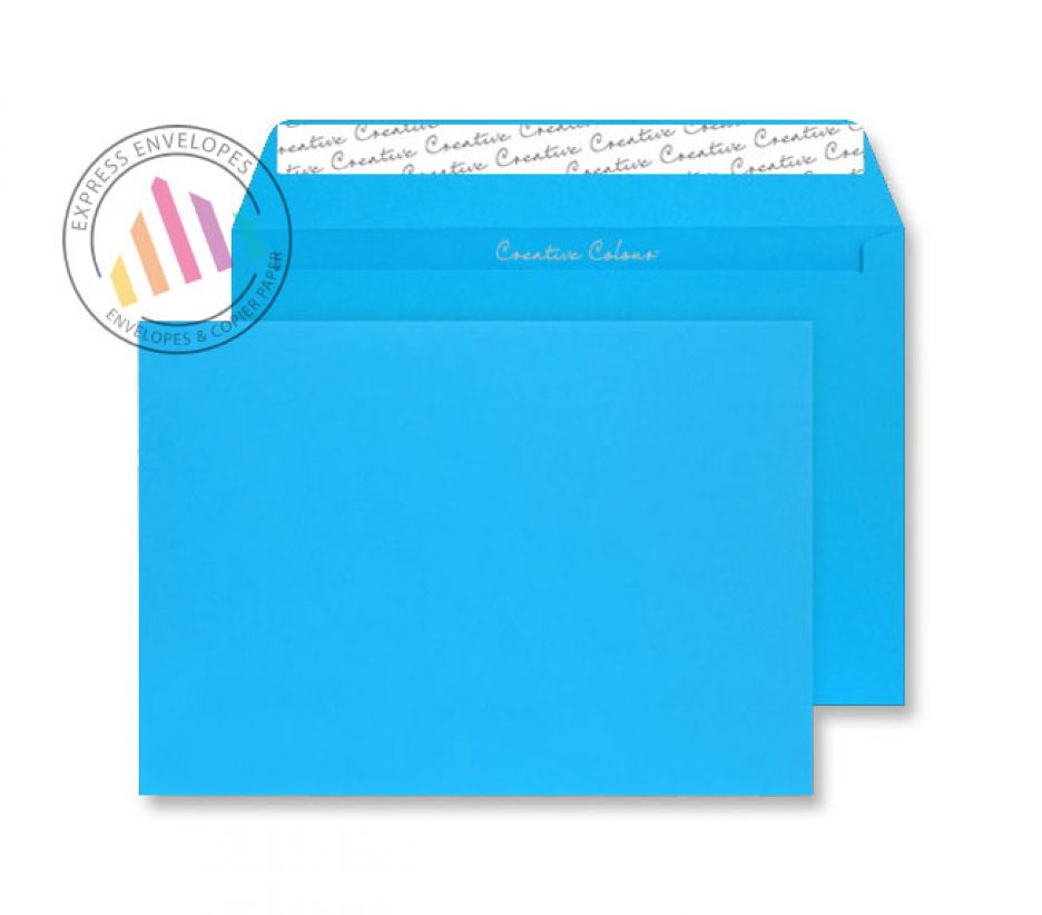 C5 - Caribbean Blue Envelopes - 120gsm - Non Window - Peel and Seal