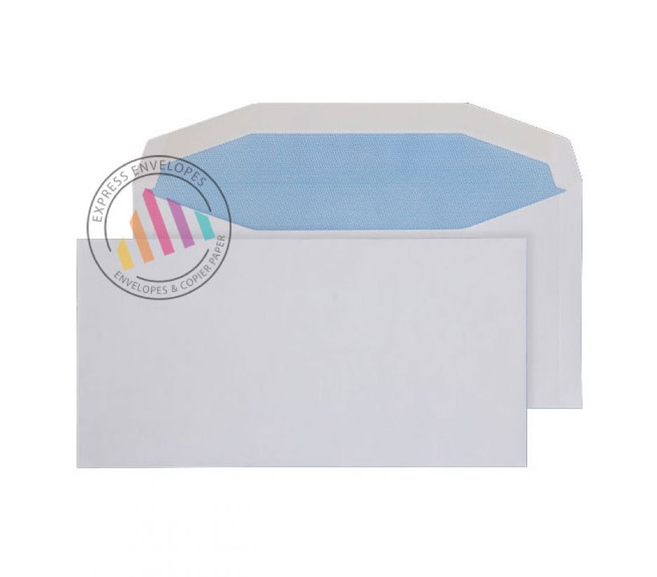 121mm×235mm - White Mailing Envelopes - 90gsm - Non Window - Gummed