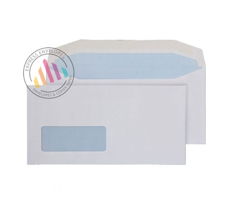 DL - White Mailing Envelopes - 80gsm - Window - Gummed