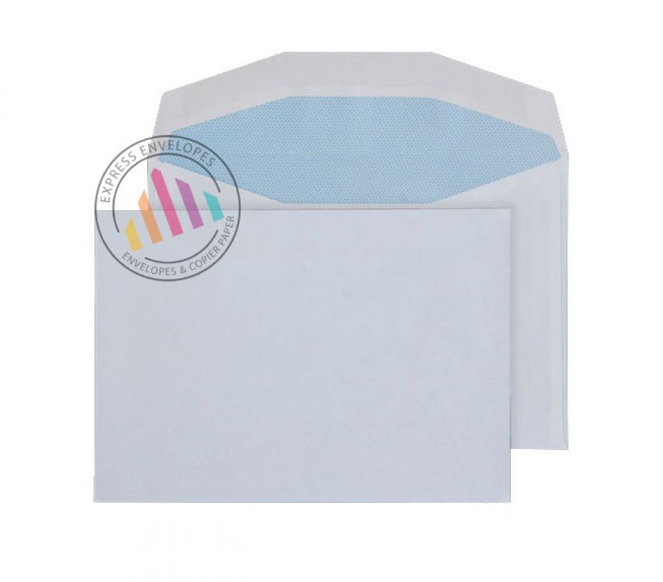 C6 - White Mailing Envelopes - 90gsm - Non Window - Gummed