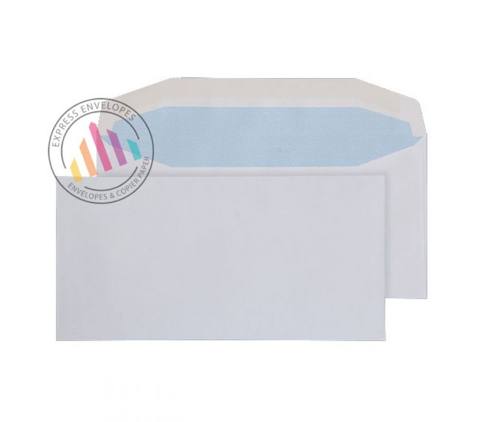 DL - White Mailing Envelopes - 90gsm - Non Window - Gummed