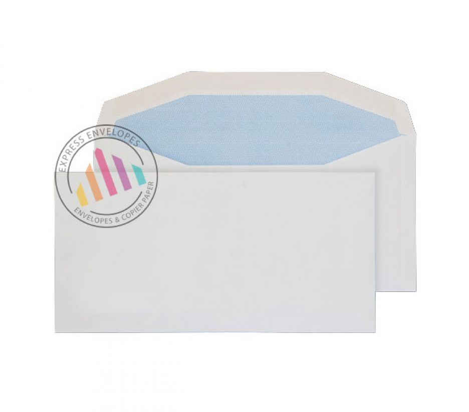 DL+ - White Mailing Envelopes - 90gsm - Non Window - Gummed