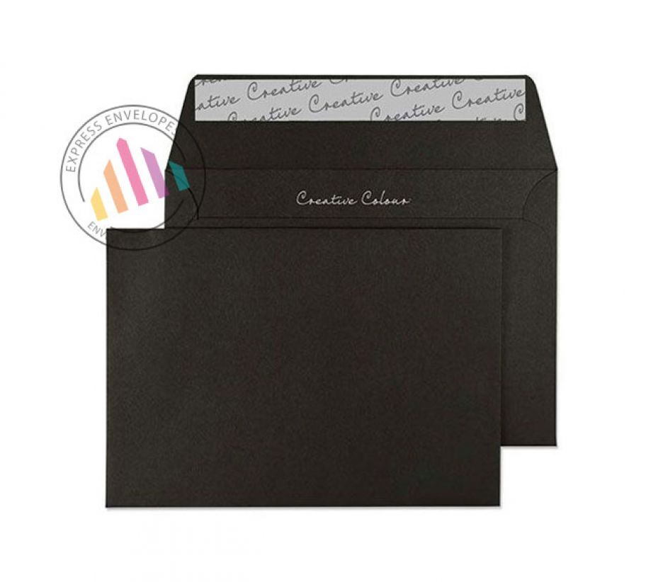 C6 - Jet Black Envelopes - 120gsm - Non Window - Peel & Seal