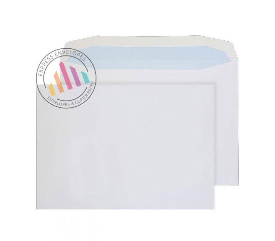 C4 - White Mailing Envelopes - 100gsm - Non Window - Gummed