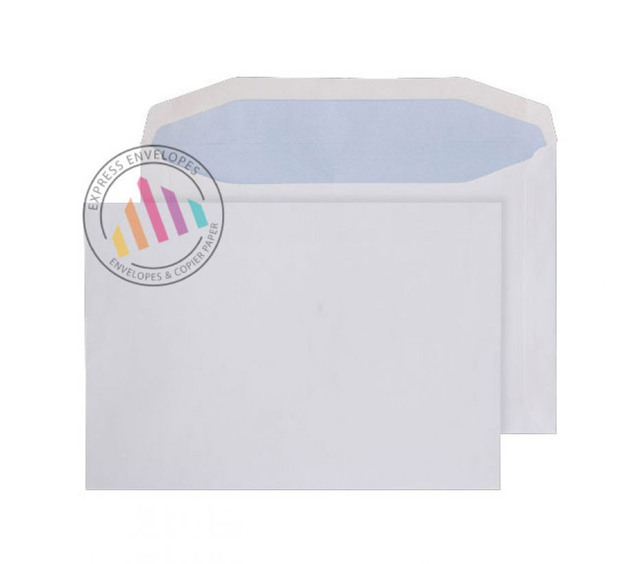 178 x 254 - White Mailing Envelopes - 90gsm - Non Window - Gummed