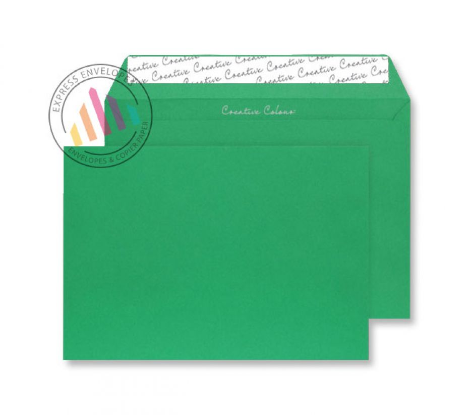 C4 - Avocado Green Envelopes - 120gsm - Non Window - Peel and Seal