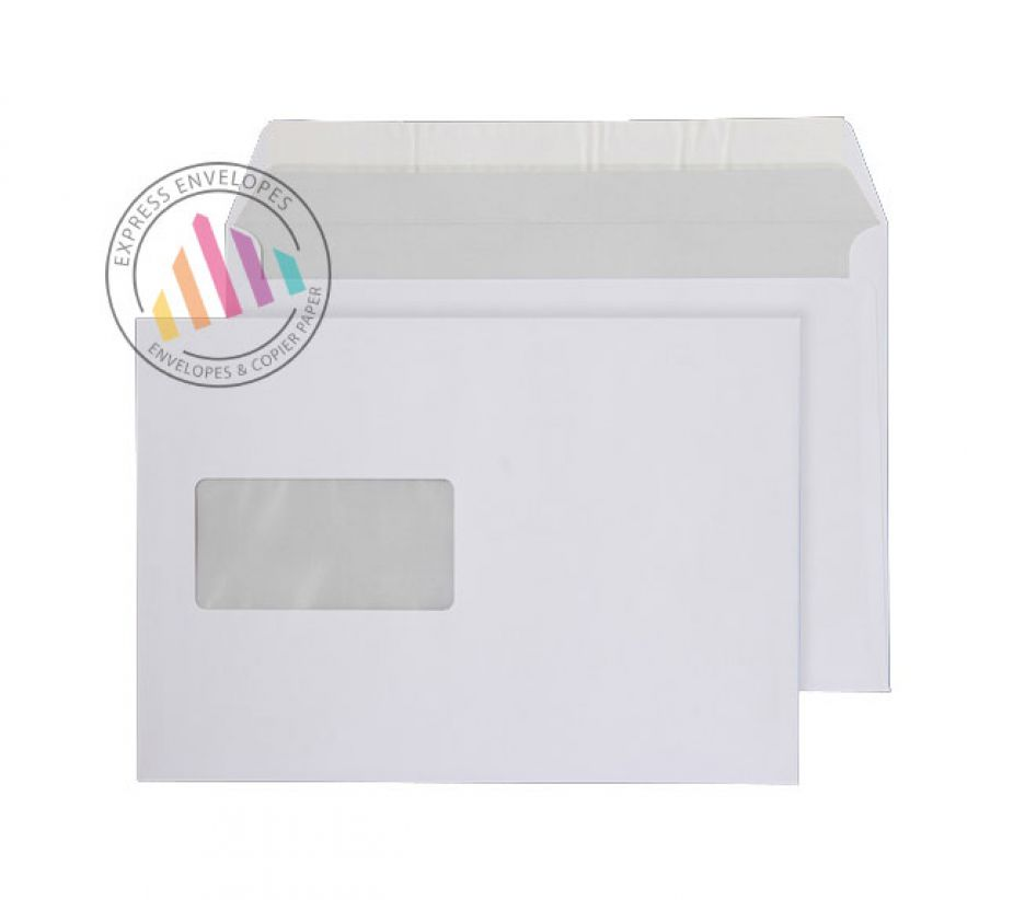 C5  - Bright White Commercial Envelopes - 120gsm - Window - Peel & Seal