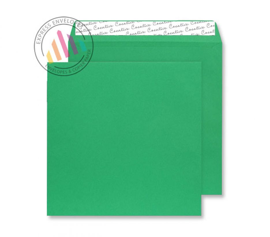 220x220mm - Avocado Green Envelopes - 120gsm - Non Window - Peel and Seal