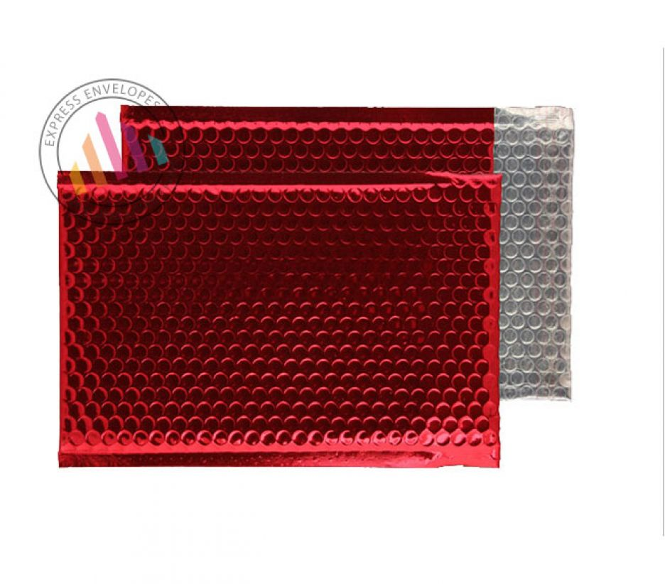 C5+ - Red Padded Bubble Envelopes - Peel and Seal