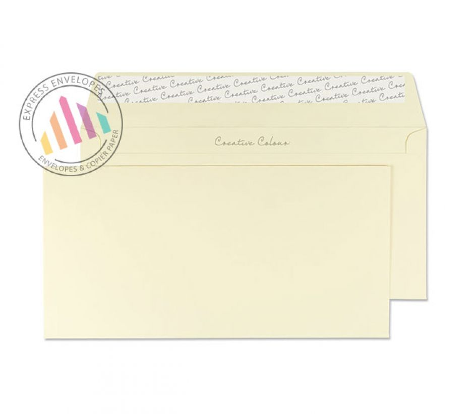 DL + - Vanilla Ice Cream Envelopes - 120gsm - Non Window - Peel and Seal