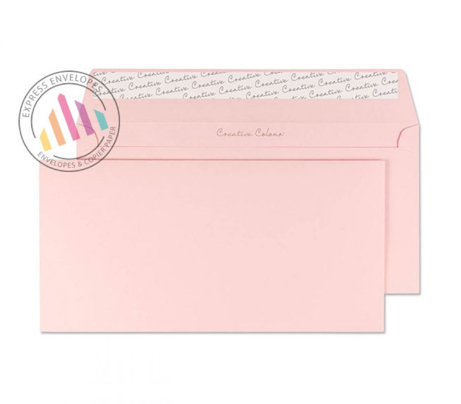DL+ - Baby Pink Envelopes - 120gsm - Non Window - Peel and Seal