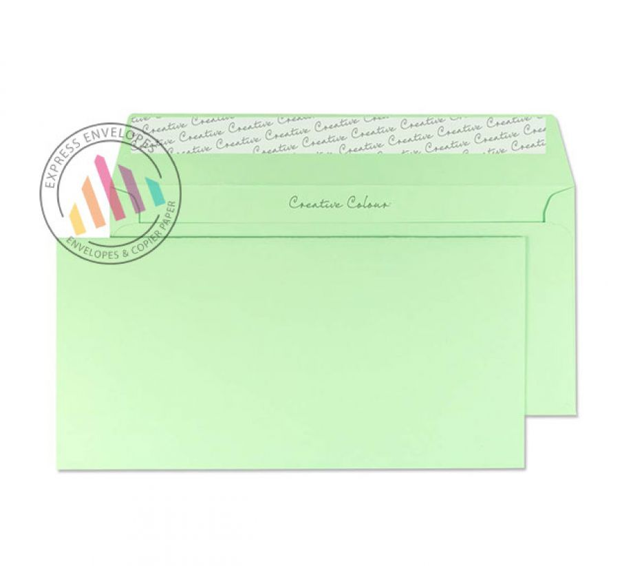 DL+ - Spearmint Green Envelopes - 120gsm - Non Window - Peel and Seal