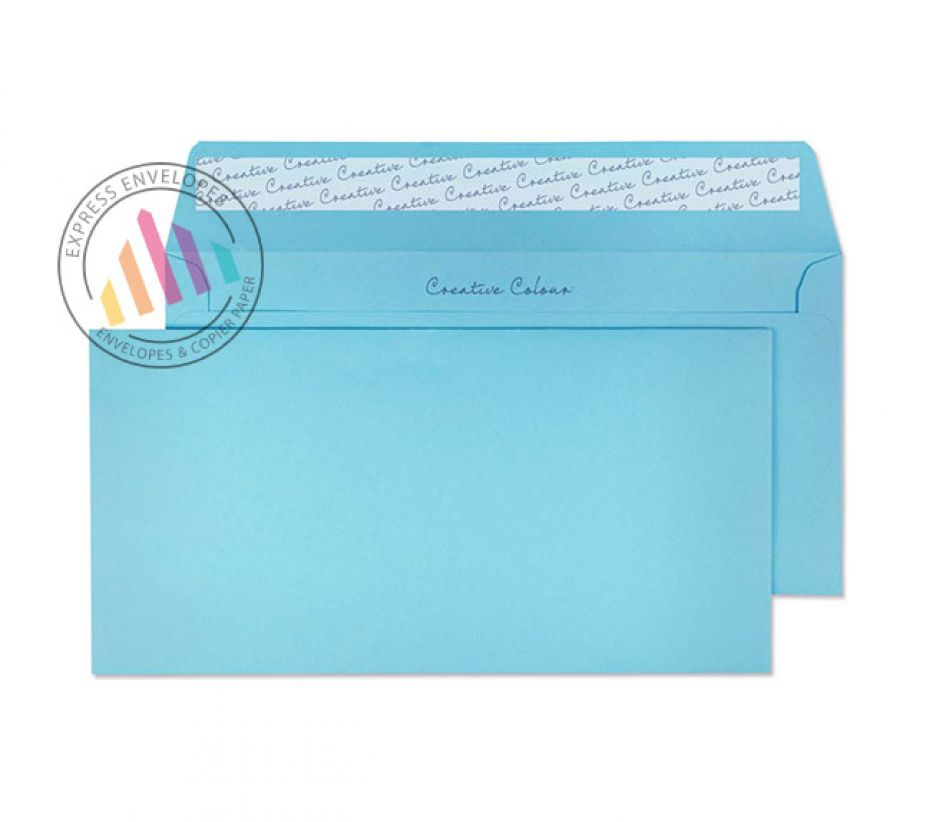 DL+ - Cotton Blue Envelopes - 120gsm - Non Window - Peel and Seal