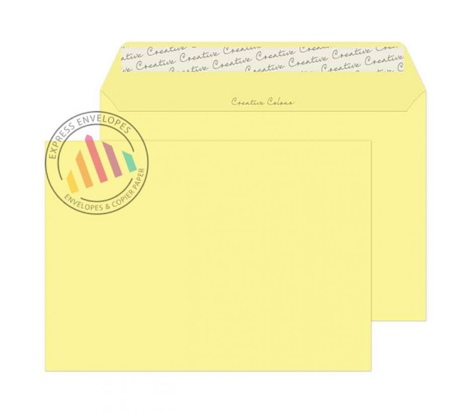 C5 - Lemon Yellow Envelopes - 120gsm - Non Window - Peel and Seal