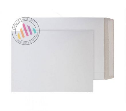 330x273mm - White All Board Envelopes - 350gsm - Non Window - Peel & Seal