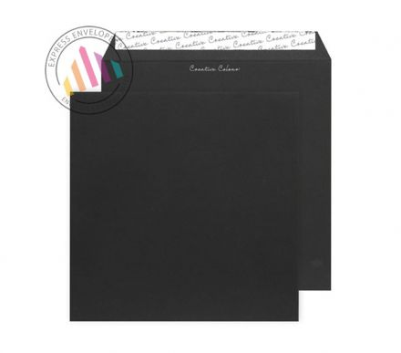 220 x 220mm - Jet Black Envelopes - 120gsm - Non Window - Peel & Seal