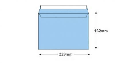 C5 - Cotton Blue Envelopes - 120gsm - Non Window - Peel and Seal - image 2