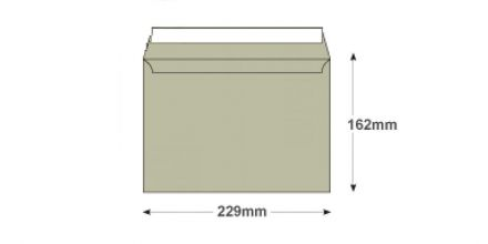 C5 - French Grey Envelopes - 120gsm - Non Window - Peel and Seal - image 2