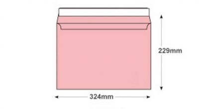 C4 - Baby Pink Envelopes - 120gsm - Non Window - Peel and Seal - image 2