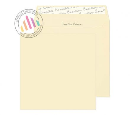 160x160mm - Clotted Cream Envelopes - 120gsm - Non Window - Peel and Seal