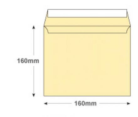 160x160mm - Clotted Cream Envelopes - 120gsm - Non Window - Peel and Seal - image 2
