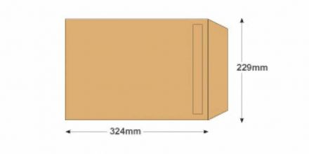 C4 - Manilla Commercial Envelopes - 80gsm - Non Window - Self Seal  - image 2