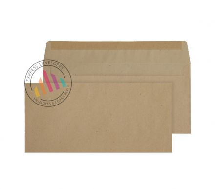 DL BRE- Manilla Commercial Envelopes - 80Gsm - Non Window - Gummed