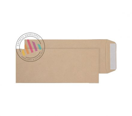 305x127mm - Manilla Commercial Envelopes - 120gsm - Non Window - Peel & Seal