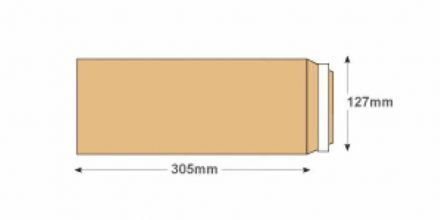 305x127mm - Manilla Commercial Envelopes - 120gsm - Non Window - Peel & Seal - image 2