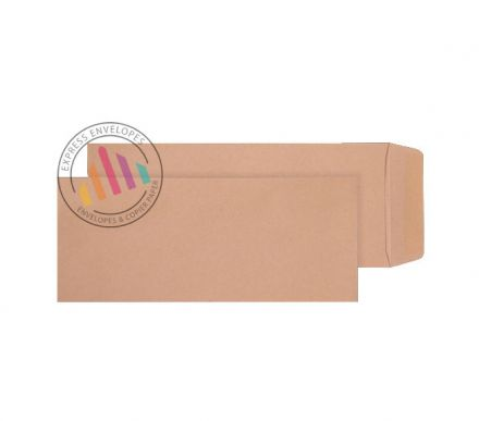 305 x 127 -  Manilla Commercial Envelopes - 120gsm - Non Window - Gummed