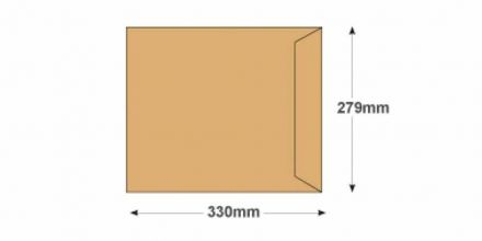 330 x 279 - Manilla Commercial Envelopes - 115gsm - Non Window - Gummed - image 2