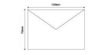 70x100mm - White Invitation Envelopes - 90gsm - Non Window - Gummed - image 2