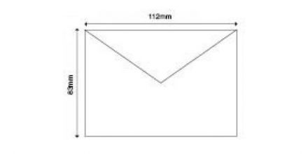 83mm x 112mm - White Invitation Envelopes - 90gsm - Non Window - Gummed - image 2