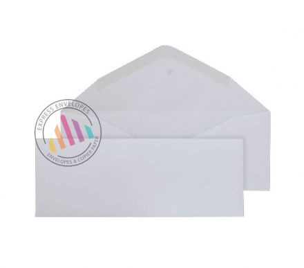 80mm x 215mm - White Invitation Envelopes - 90gsm - Non Window - Gummed