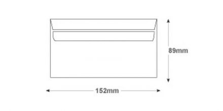 89mm x 152mm - White Commercial Envelopes - 80gsm - Non Window - Self Seal - image 2