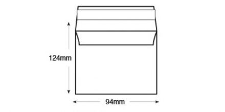 94mm x 124mm White Commercial Envelopes - 100gsm - Non Window - Peel & Seal - image 2