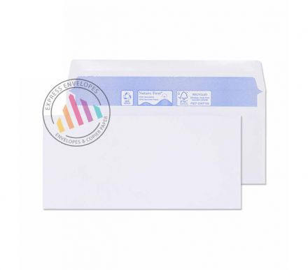 Recycled DL BRE - White Envelopes - 80gsm - Non Window - Gummed