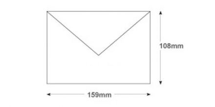 108mm x 159mm - White Invitation Envelopes - 90gsm - Non Window - Gummed - image 2
