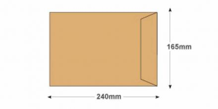 240x165mm - Manilla Commercial Envelopes - 115gsm - Non Window - Gummed - image 2