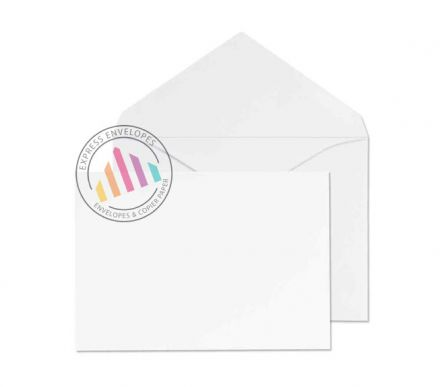 Recycled C6 - White Invitation Envelopes - 90gsm - Non Window - Gummed