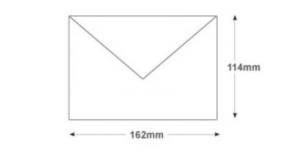 Recycled C6 - White Invitation Envelopes - 90gsm - Non Window - Gummed - image 2
